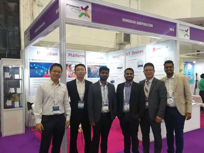 Hongdian bonding bandwidth routers got high comments at Convergence India 2018